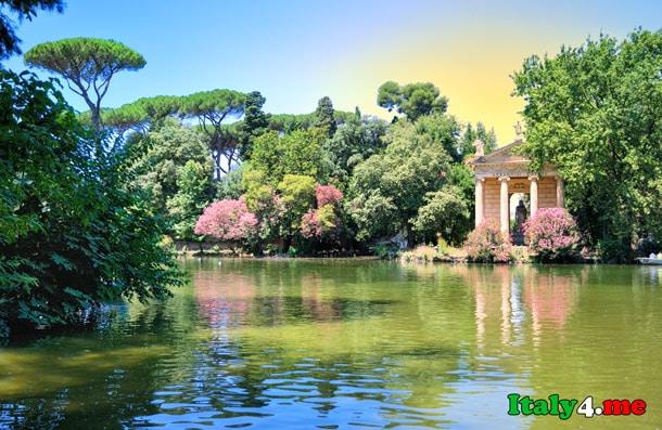 вилла Боргезе парк в Риме