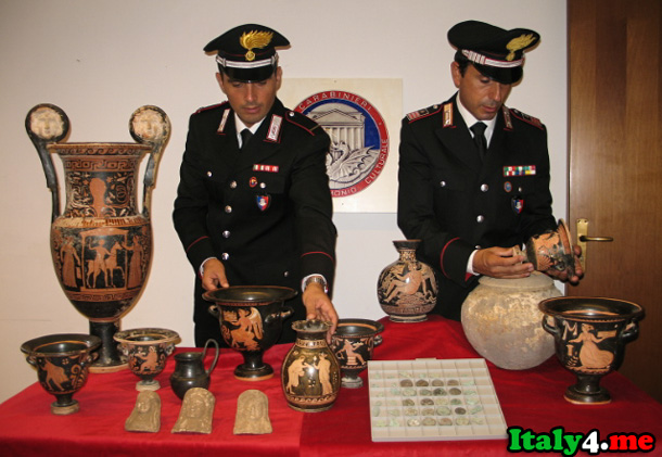 выставка украденных ценностей в Риме