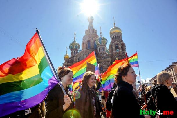 протест итальянских геев