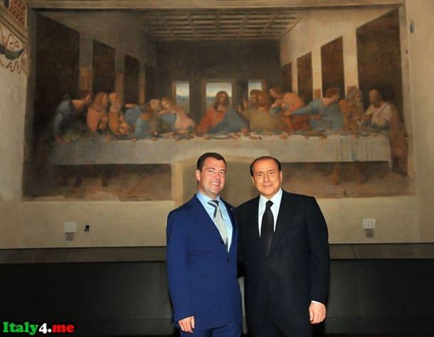 Сильвио Берлускони и Дмитрий Медведев в Милане