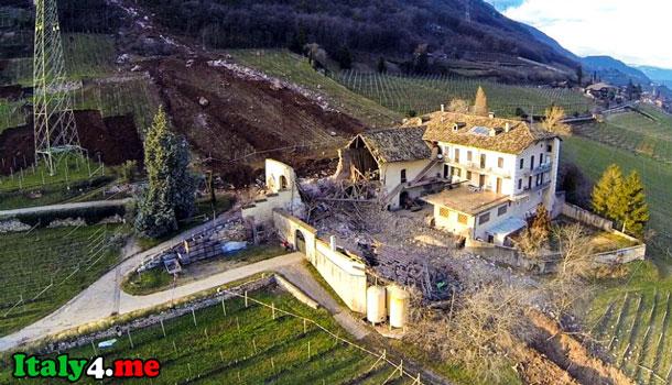 камнепад Италия