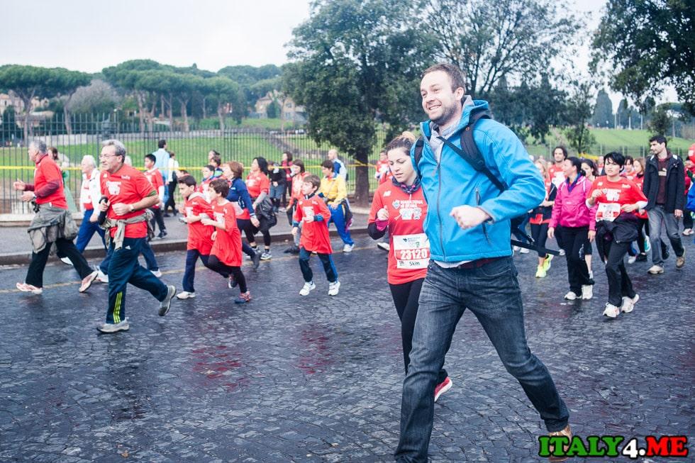 Артур Якуцевич в римском марафоне