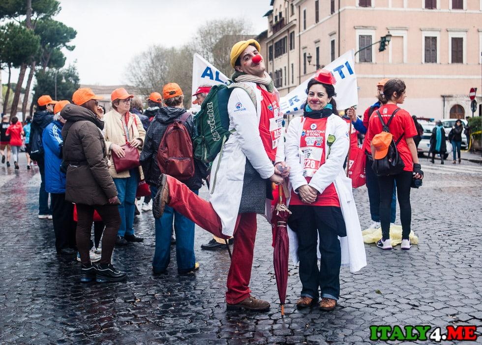 клоуны в Риме
