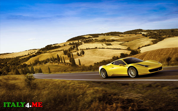 Ferrari на дорогах Италии