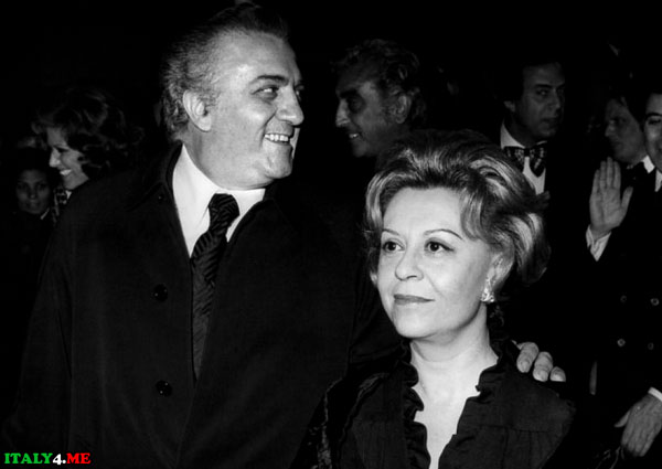 Джульетта Мазина и ее муж Федерико Феллини