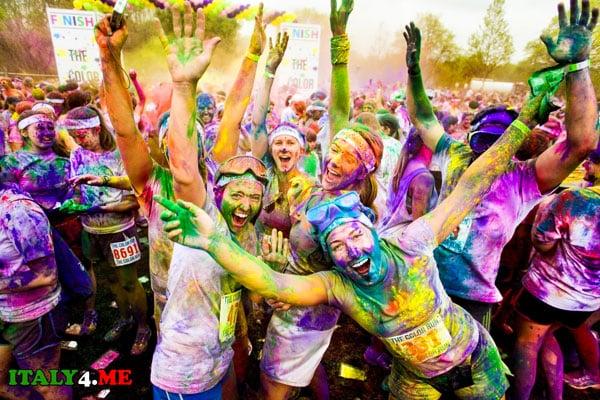 color run в Турине 10 мая 2014 года