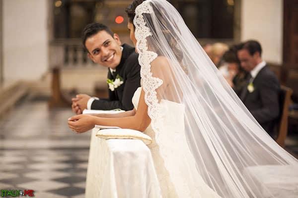 Итальянская свадьба в церкви