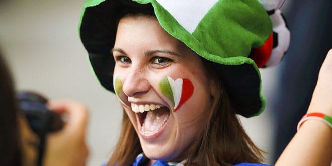 Счастливая итальянка