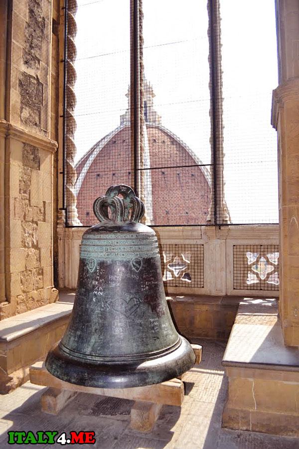 колокол колокольня Джотто во Флоренции