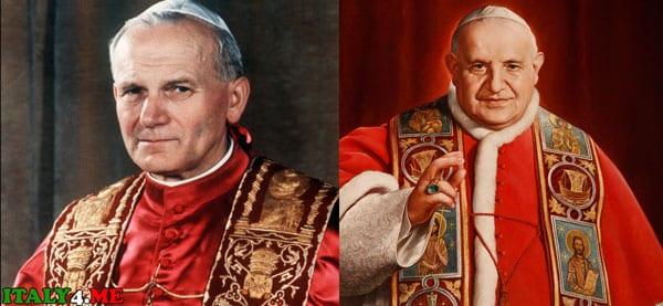 папа римский Иоанна Павел II и Иоанн XXIII