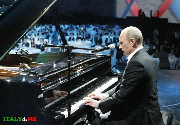 Владимир Путин в Италии на благотворительном вечере