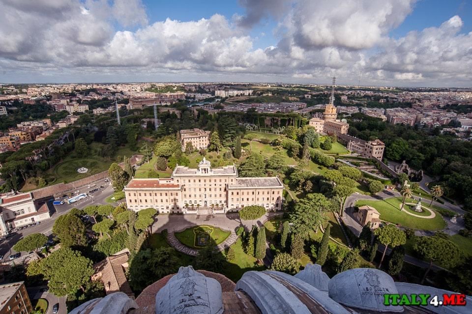 Лучший вид на Рим открывается именно с крыши собора Святого Петра