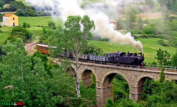 Старинная железная дорога Италии
