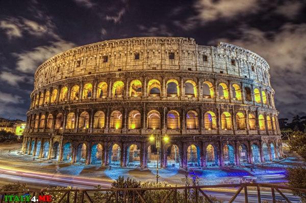 Колизей ночь музеев Рим