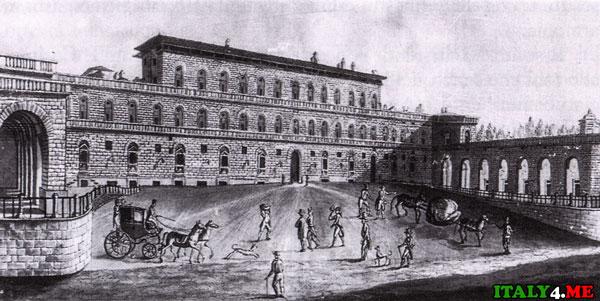Дворец Питти гравюра