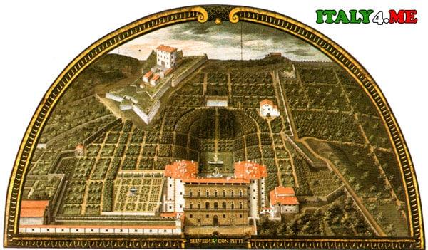 Палаццо Питти фреска Флоренция