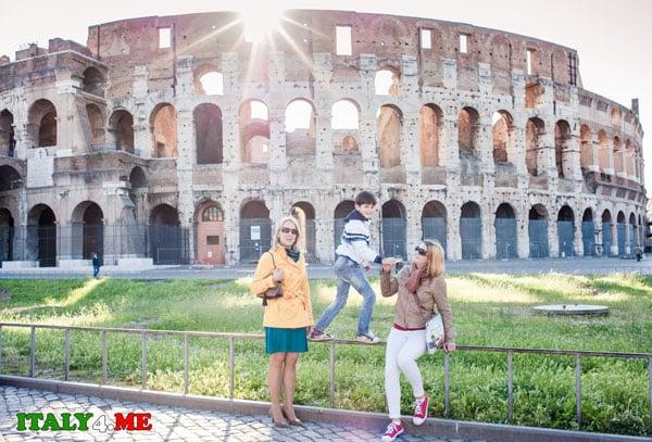 Колизей Рим рассвет