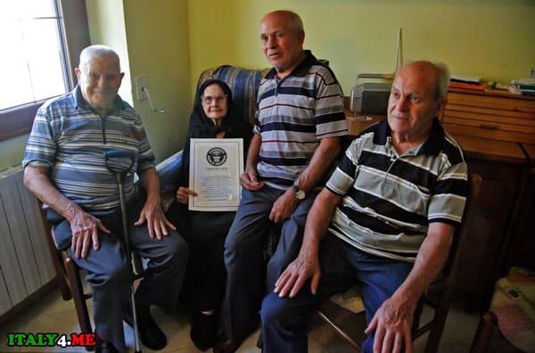 долгожители Сардиния