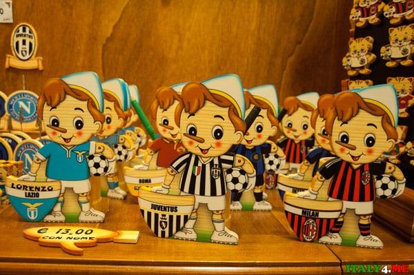 магазин Пиноккио Буратино в Риме