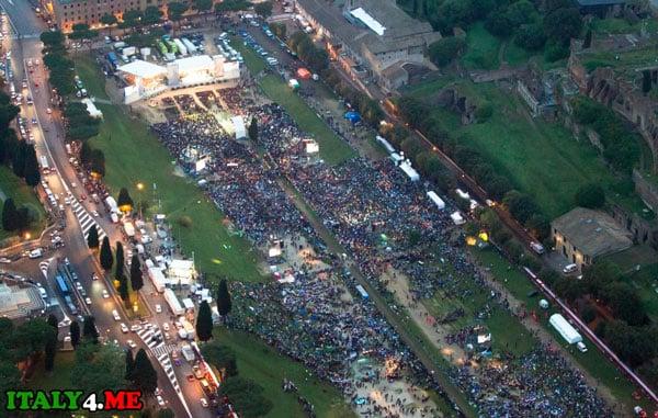 концерт Роллинг Стоунз на Большом Цирке в Риме