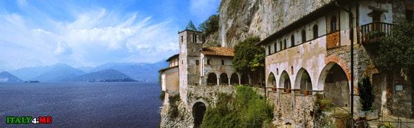 Озеро-Маджоре-Монастырь-Санта-Катерина-дель-Сассо-1