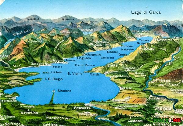 карта-озеро-Гарда-в-Италии