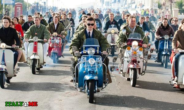 мотоциклы-vespa-италия