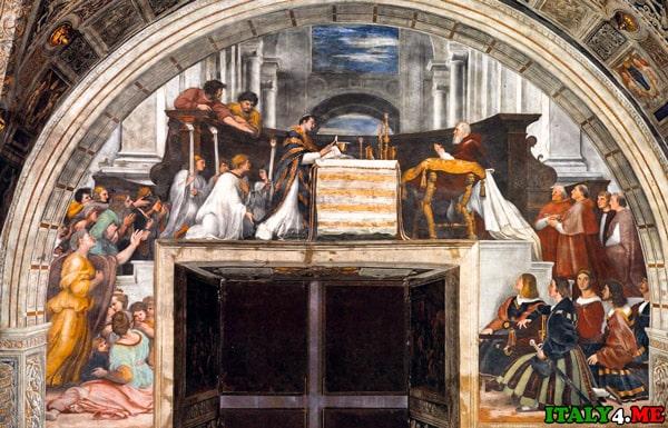 Церковь-Санта-Кристина-фреска-Больсена