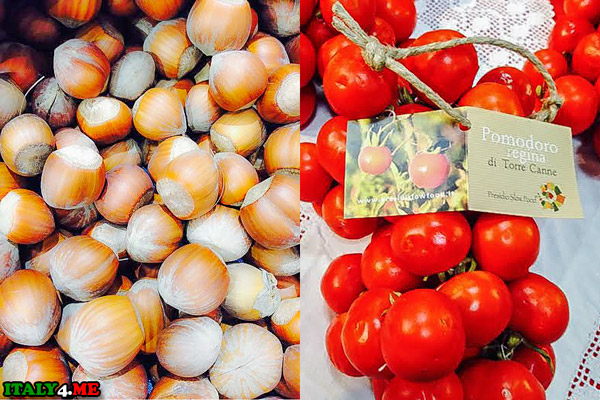 Орехи и томаты