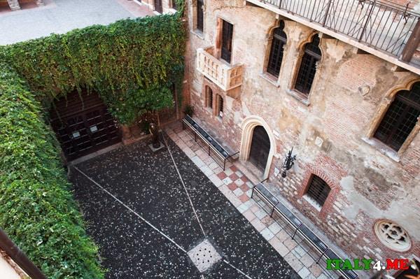 Балкон Джульетты вид из гостевого дома