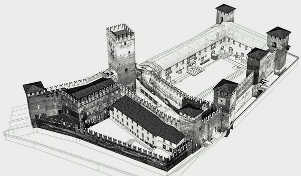 схема замка Кастельвеккио вид сверху