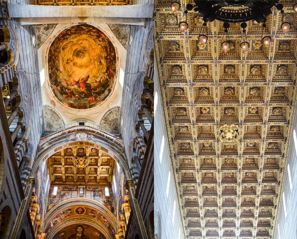 мозаика на потолке в пизанском соборе