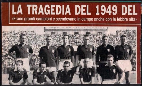 футболисты клуба Торино погибшие в авиакатастрофе 1949 года