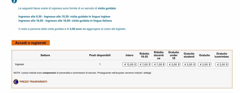 Цена билетов Фреска Тайная Вечеря в церкви Санта-Мария-делле-Грацие в Милане