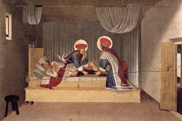 Медичи на фреске в соборе Сан-Марко Флоренция