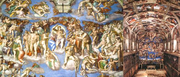 фреска Микеланджело Страшный суд в Ватикане
