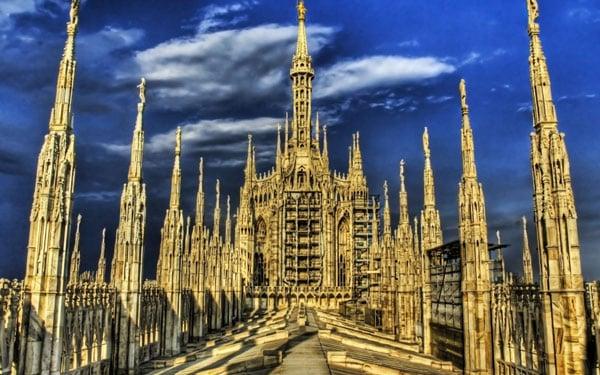 Кафедральный собор в Милане обзорная площадка