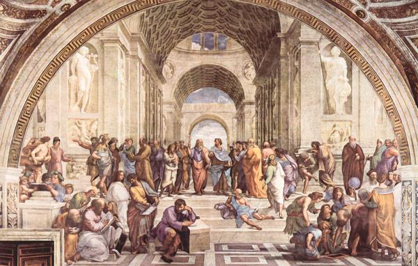 Афинская школа фреска Рафаэля
