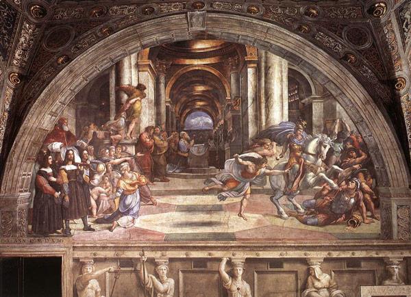 Фреска «Изгнание Элиодора» Рафаэль