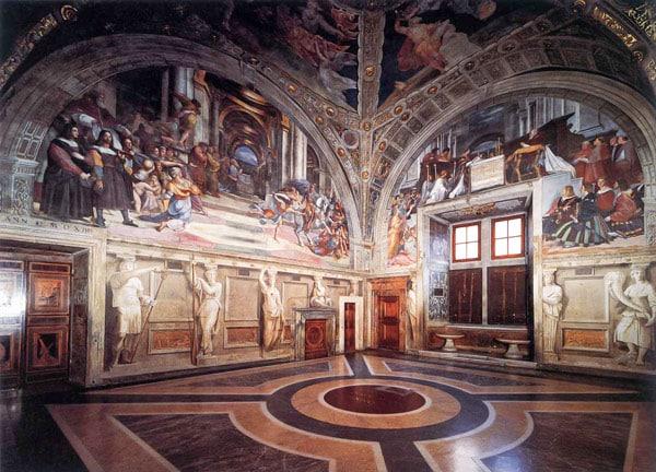 Станца д'Элиодоро в Ватикане Рафаэль