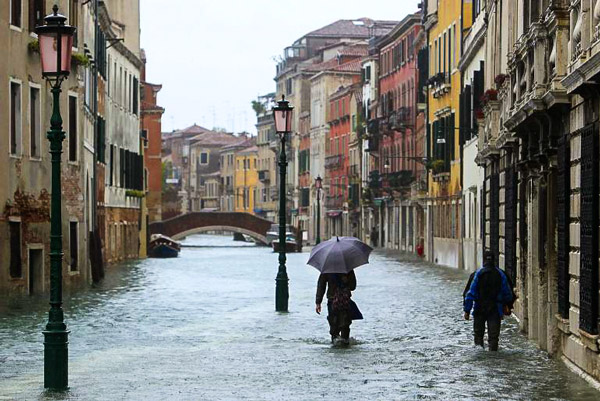 прогулка по Венеции зимой