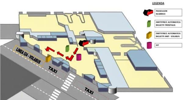 Схема аэропорта Генуя