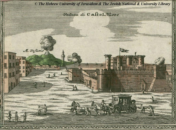 Кастель Нуово на старых картах XVIII века