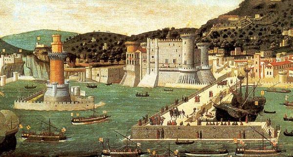 Кастель Нуово - Картина 15 века