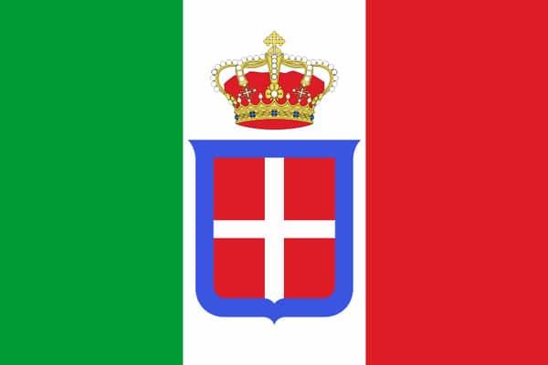 Флаг Королевство Италия 1861-1946 год
