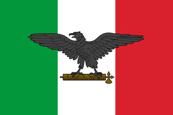 римский орел на флаге Италии в 1943-1945 годах