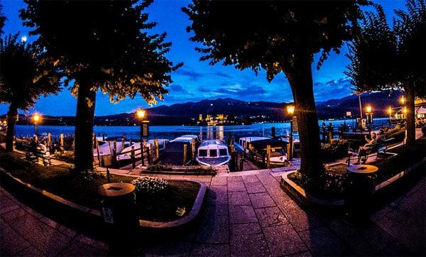 Озеро д'Орта - Ночная пристань Орта Сан Джулио