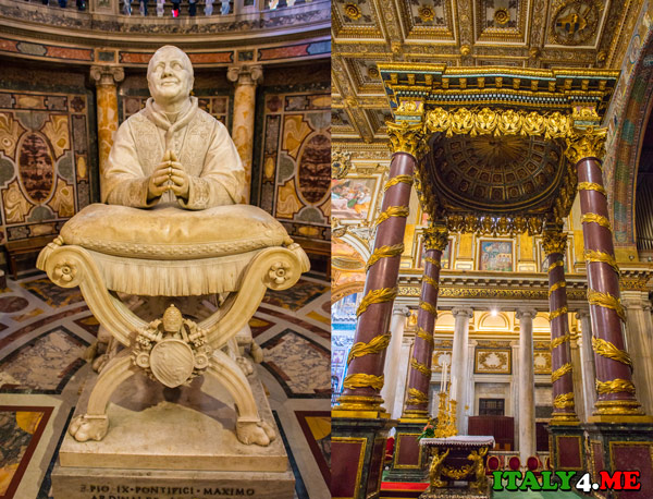 статуя папы Пия IX Санта-Мария-Маджоре