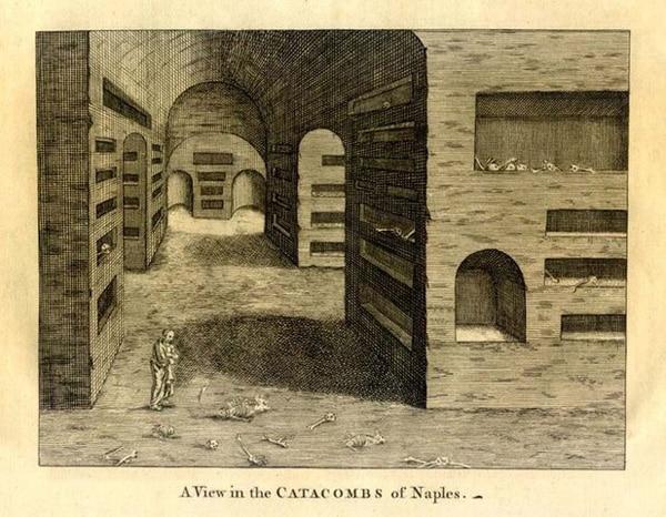 Представления о катакомбах Неаполя в средние века