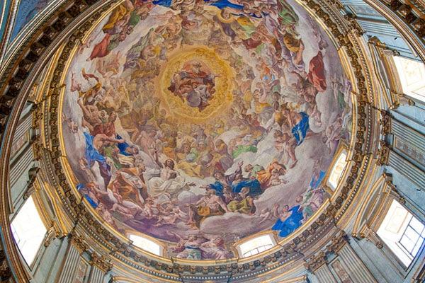 Собор святого Януария - Купол работы Доменикино